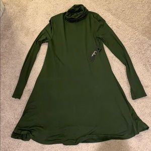 Olive green dress from Lulus